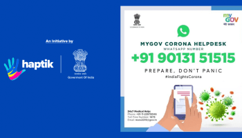 Haptik Develops WhatsApp Chatbot for Government of India to Raise COVID-19 Awareness
